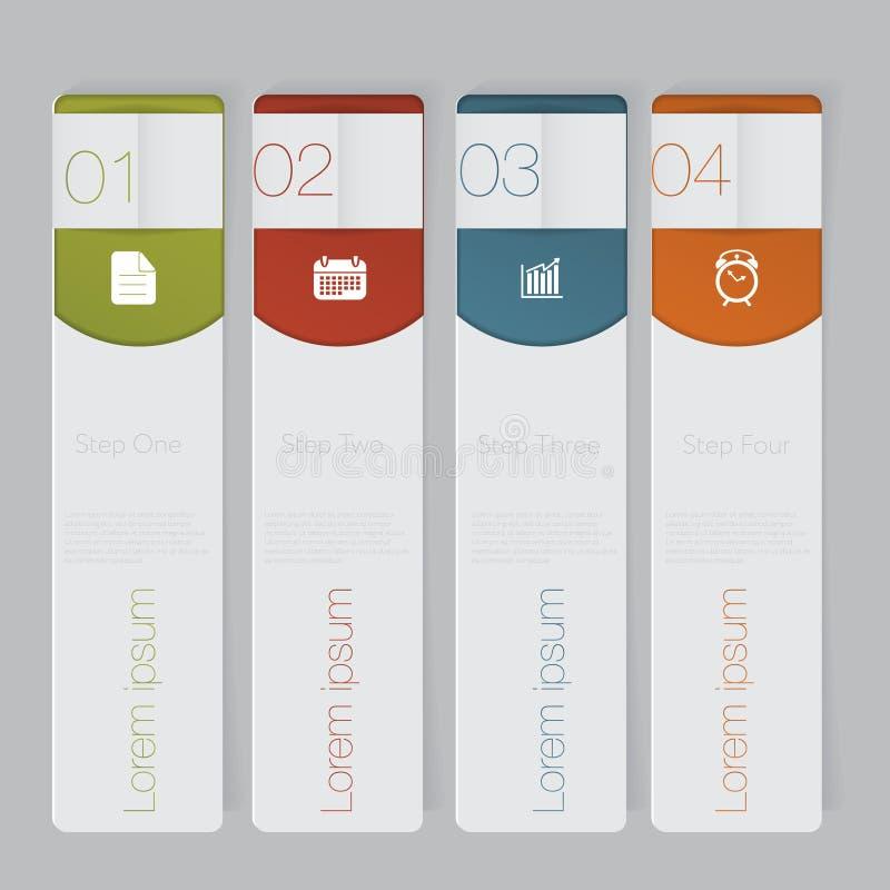 Infographic Concevez le graphique de calibre de bannières de nombre ou la disposition de site Web illustration de vecteur