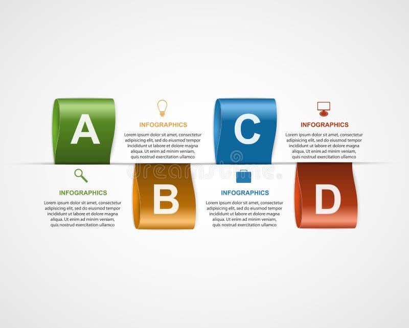 Infographic creativo con las etiquetas del color libre illustration