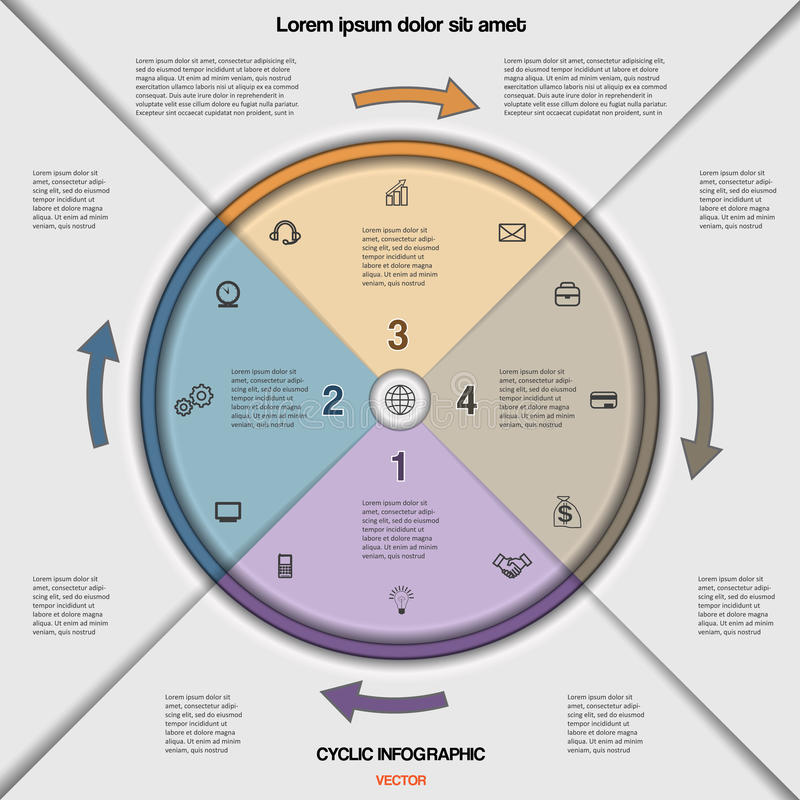 Infographic cyclic business process or workflow for project stock download infographic cyclic business process or workflow for project stock vector illustration of graphic flashek Choice Image