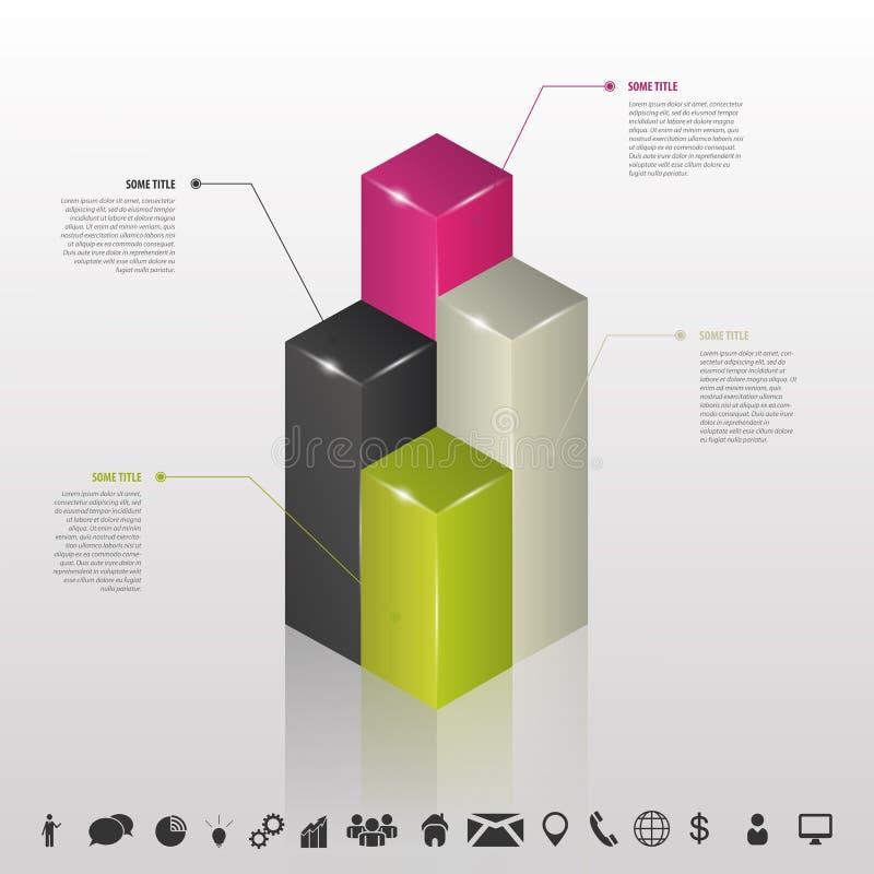 Infographic Datenkolonnen für Geschäft Vektor vektor abbildung