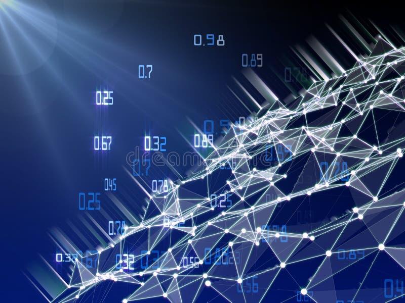 Infographic de cryptografie van het gegevensverwerkingsalgoritme Grote gegevens polygonaly visualisatie royalty-vrije stock foto's