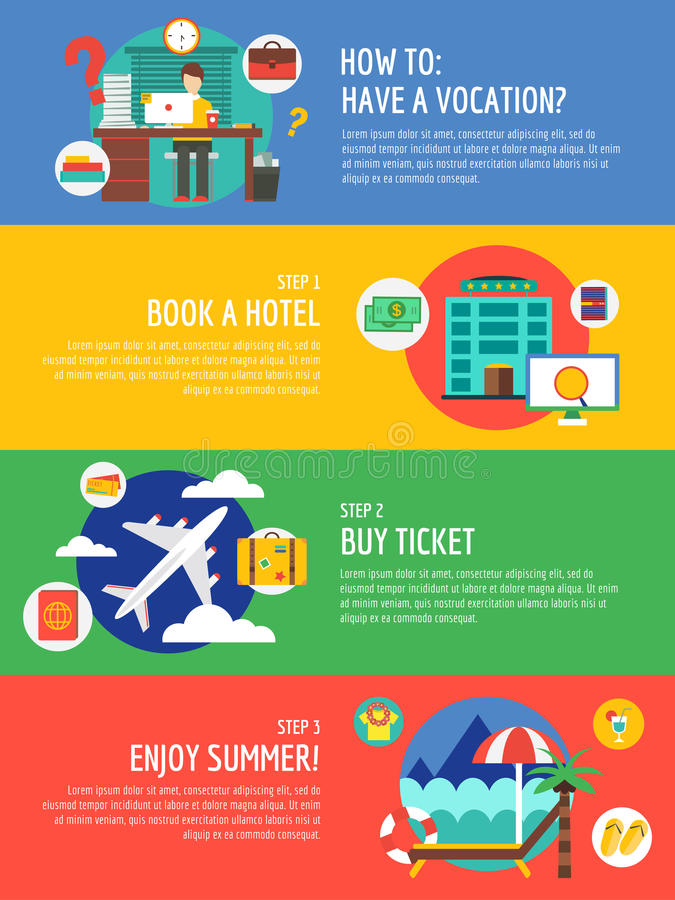 Infographic de reis van de roepingszomer De zomer vector illustratie