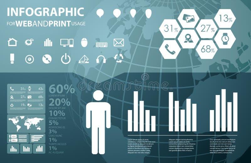 Infographic de zaken van uitstekende kwaliteit vector illustratie