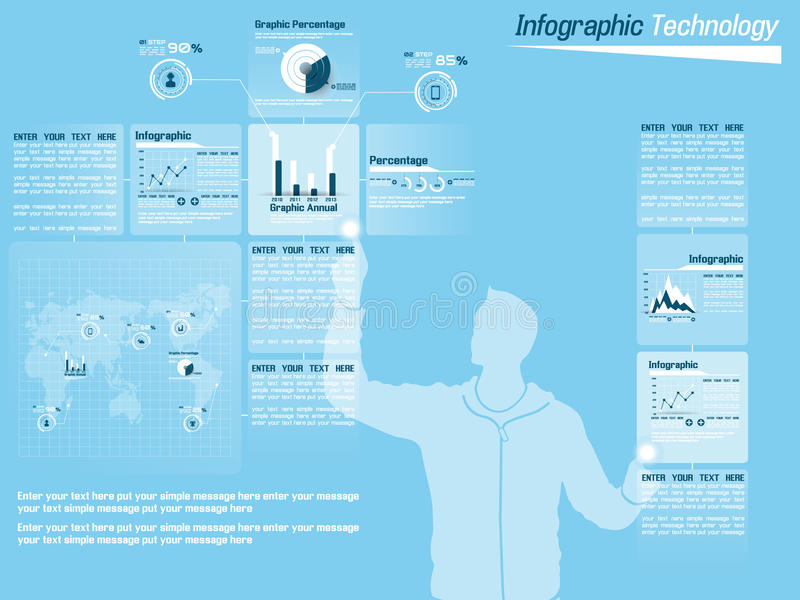 Infographic demographic elements chart and graphic royalty free illustration