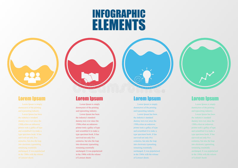 Infographic design color circles. royalty free illustration