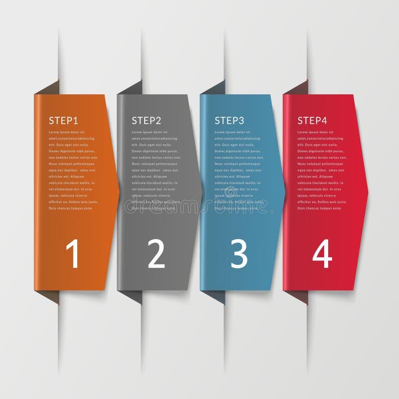 Infographic Design der Einfachheit lizenzfreie abbildung