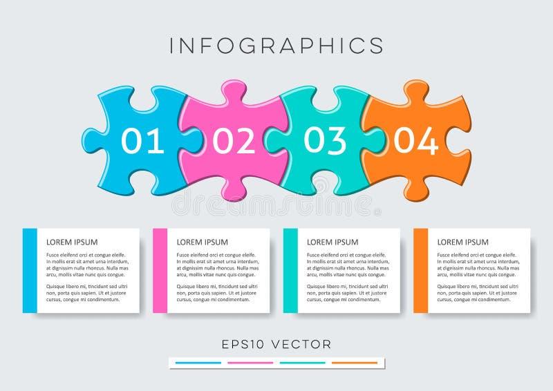 Infographic Design der modernen Wahlfahnen lizenzfreie abbildung