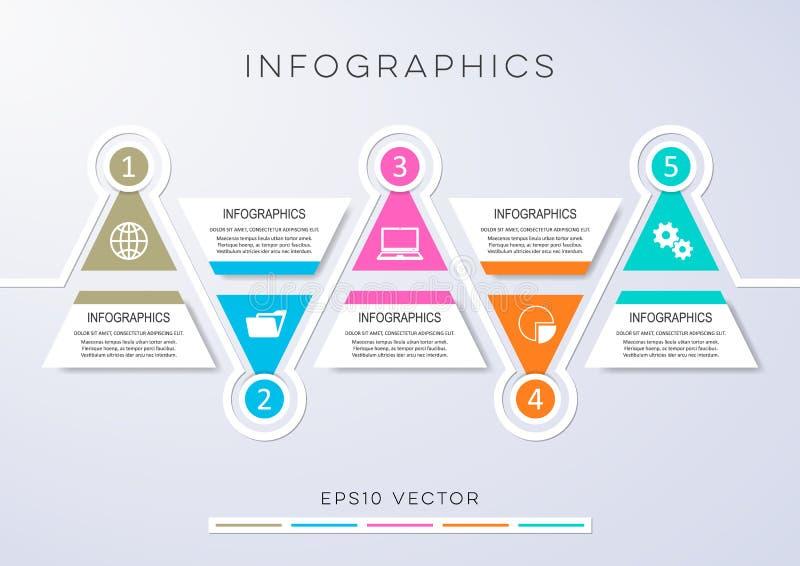 Infographic Design der Wahlfahnen vektor abbildung