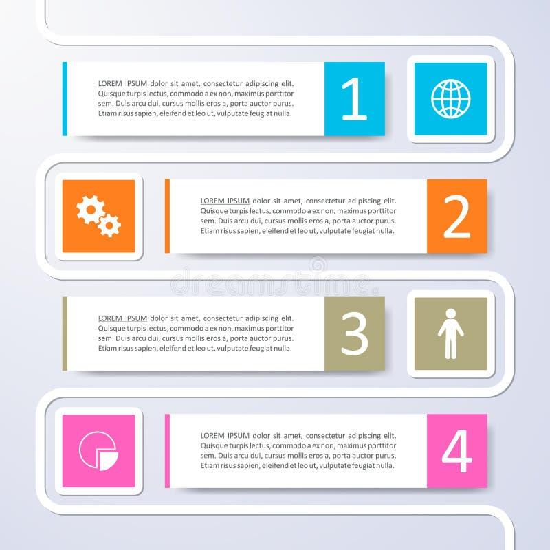 Infographic Design der Wahlfahnen stock abbildung