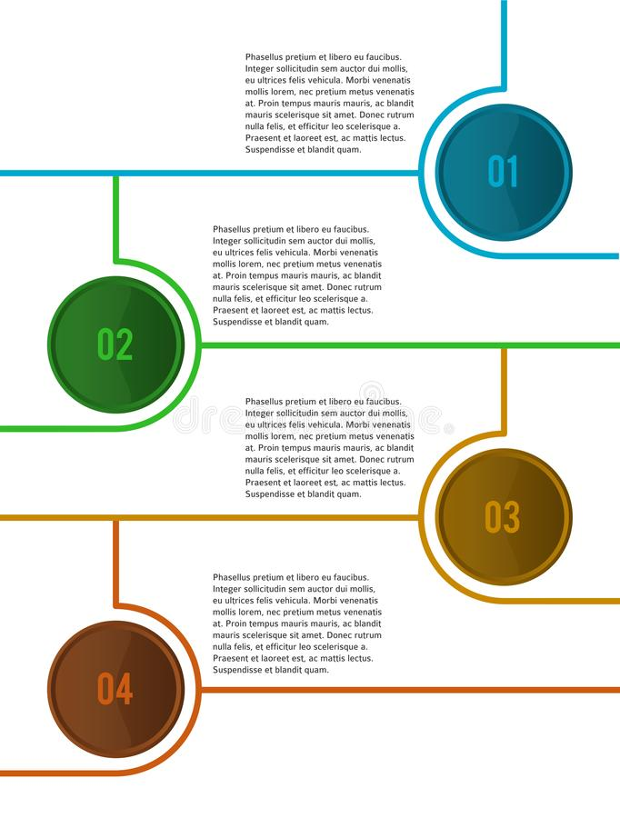 Infographic design element loop style ad brochure01. Design elements loop style background business presentation template. Vector illustration EPS 10 for chart vector illustration