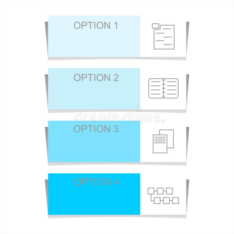 Infographic design elements for business data with four options, parts, steps, levels or processes. royalty free illustration