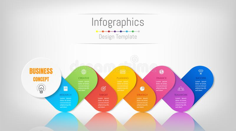 Infographic design elements for your business data with 8 options. royalty free illustration