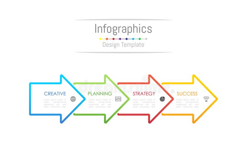 Infographic design elements for your business data with 4 options. royalty free illustration