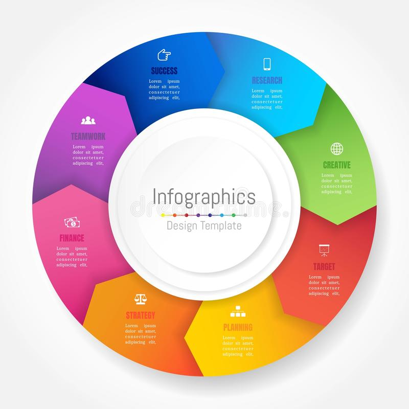 Infographic design elements for your business data with 8 options royalty free illustration