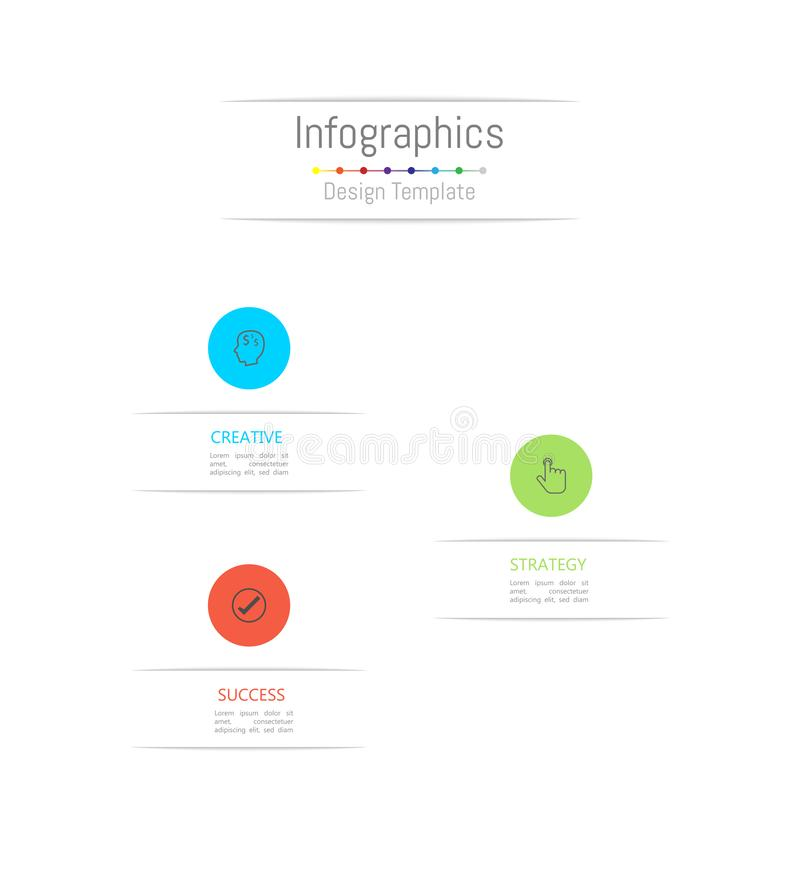 Infographic design elements for your business data with 9 options, parts, steps, timelines or processes. Vector. Infographic design elements for your business vector illustration
