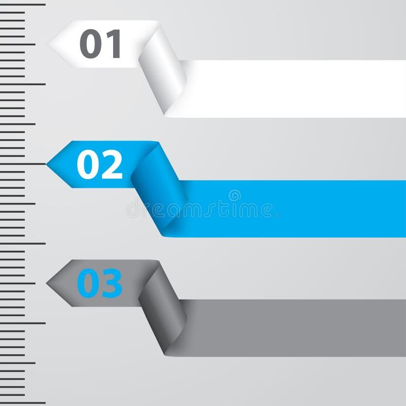 Infographic design för band stock illustrationer