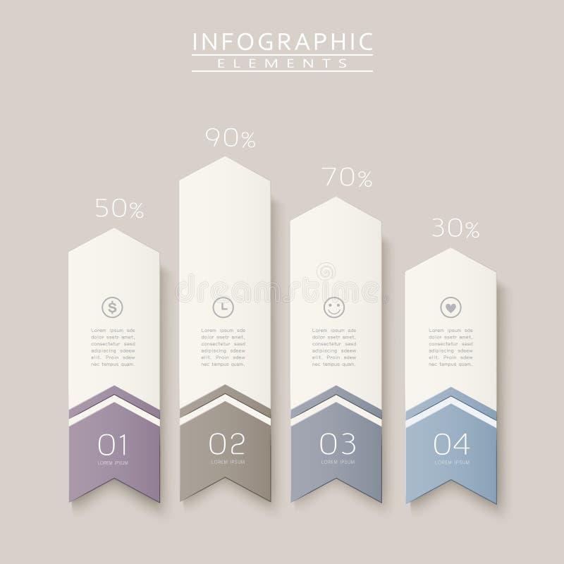 Infographic design för enkelhet stock illustrationer