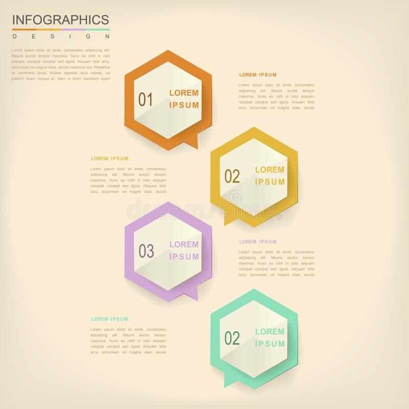 Infographic design för enkelhet vektor illustrationer