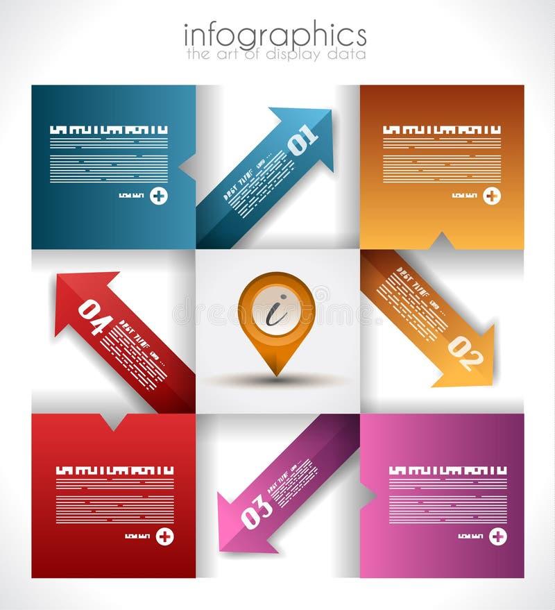 Infographic design för produktrang royaltyfri illustrationer