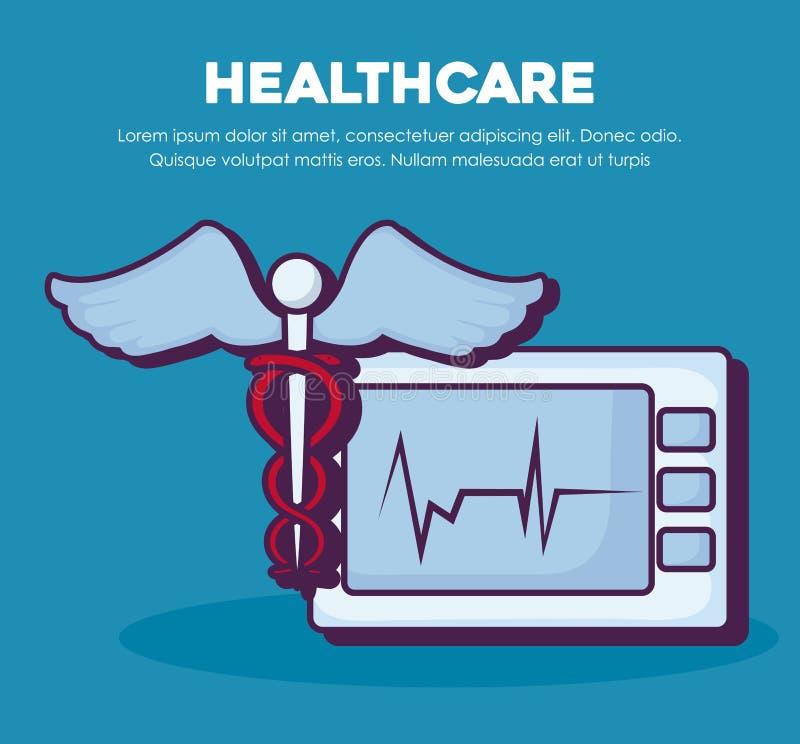 Infographic design för sjukvård vektor illustrationer