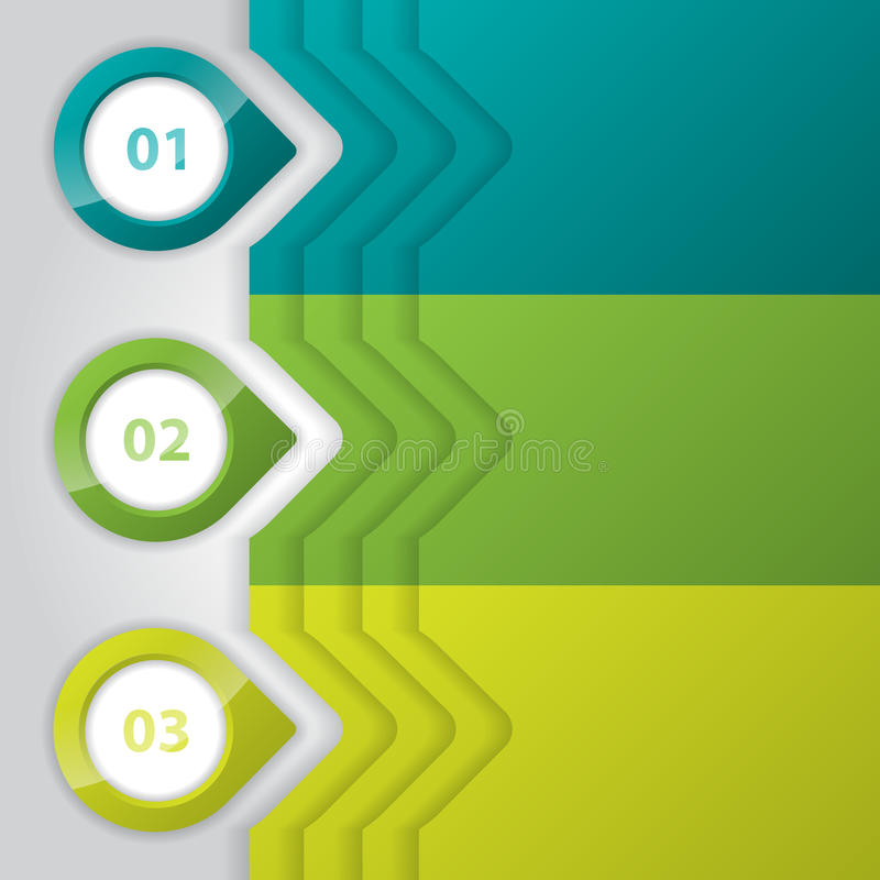 Infographic design with glossy pointers royalty free illustration