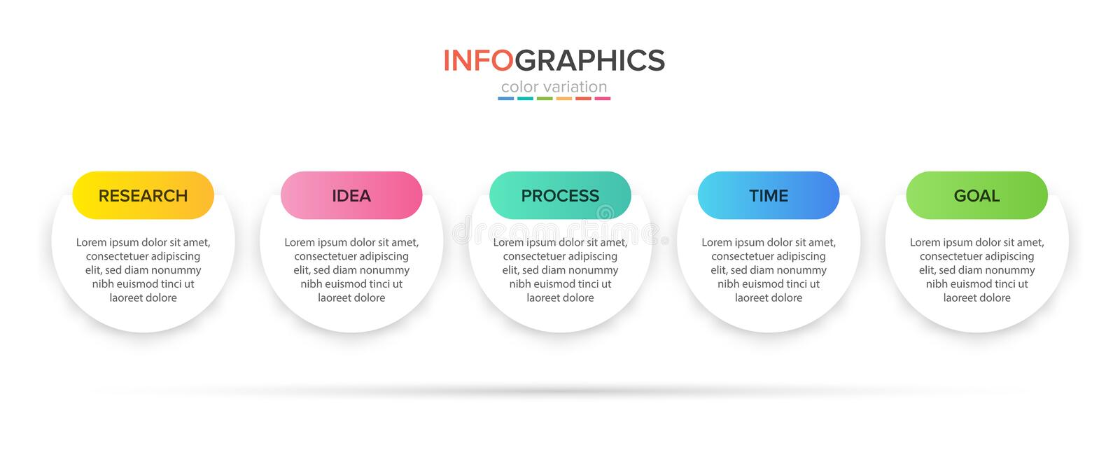 Infographic design with icons and 5 options or steps. Thin line vector. Infographics business concept. Can be used for vector illustration