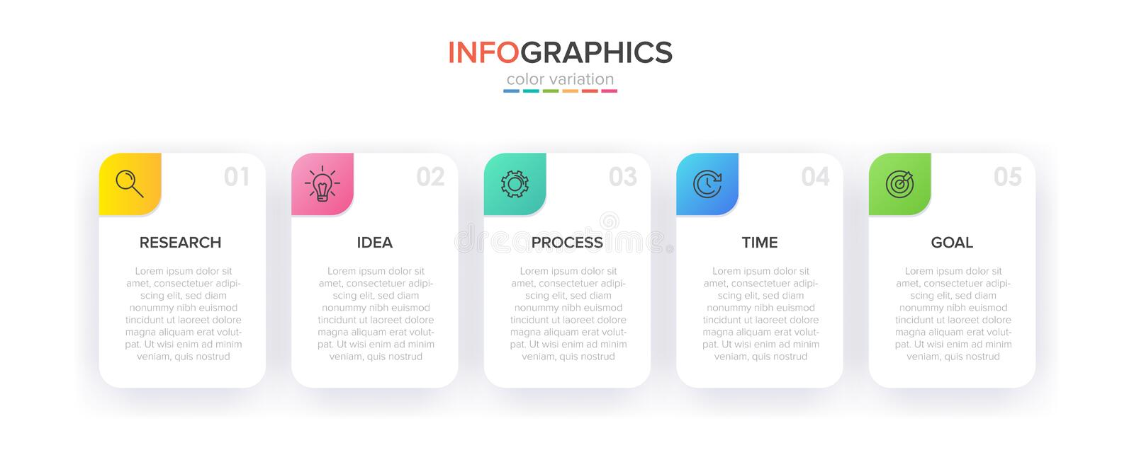 Infographic design with icons and 5 options or steps. Thin line vector. Infographics business concept. Can be used for. Info graphics, flow charts stock illustration