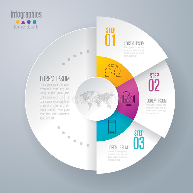 Infographic design and marketing icons. stock illustration