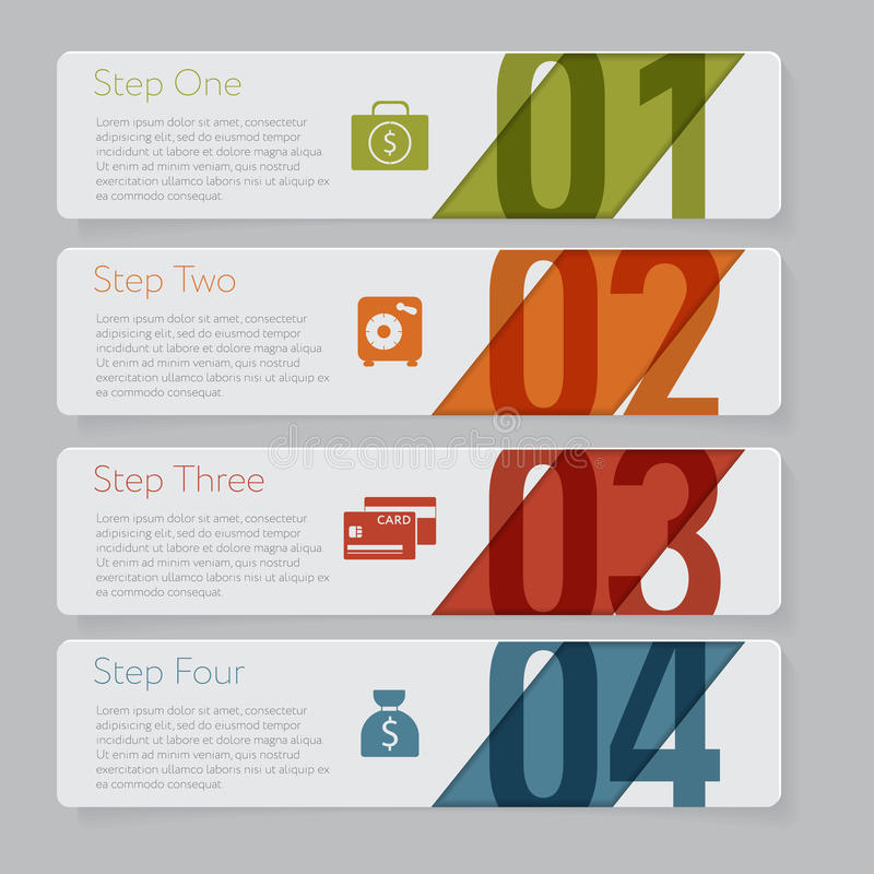 Free Infographic. Design Number Banners Template Graphic Or Website Layout Royalty Free Stock Photo - 42901495