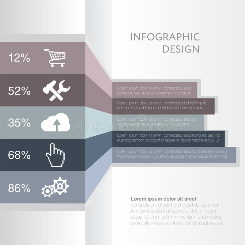 Infographic. Design number banners template graphic or website layout royalty free illustration