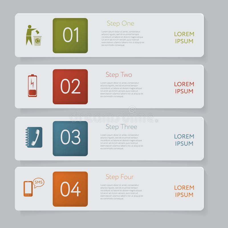 Infographic. Design number banners template graphic or website layout stock illustration