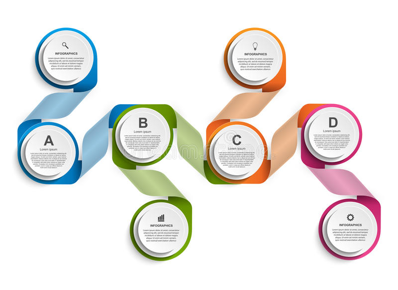 Infographic design organization chart template. Vector illustration stock illustration