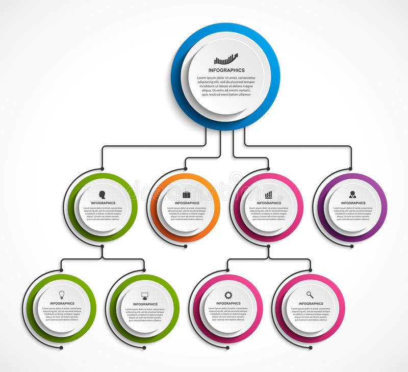 Infographic design organization chart template. Vector illustration vector illustration