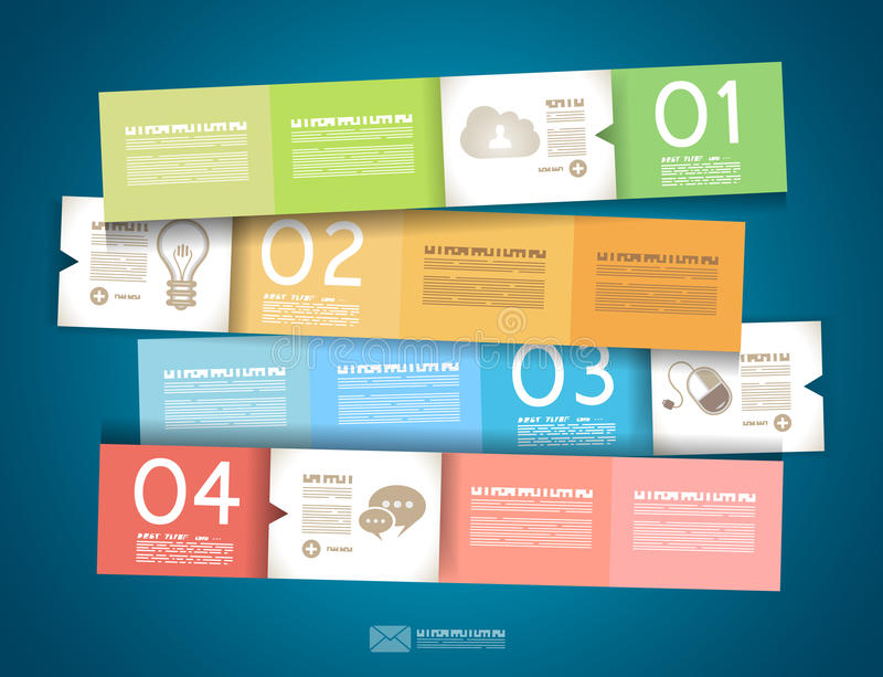 Infographic design - original paper tags royalty free illustration