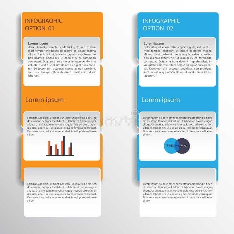 Infographic design på den gråa bakgrunden Vektormapp för EPS 10 royaltyfri illustrationer