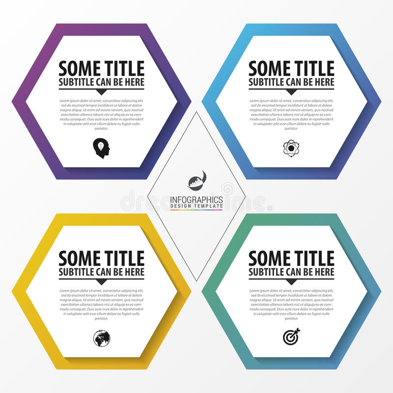 Infographic design template. Business concept with 4 options. Vector illustration royalty free illustration