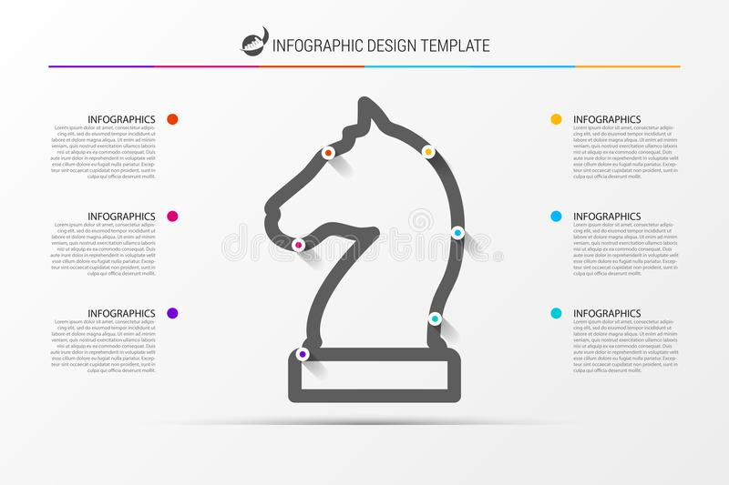 Infographic design template. Business strategy concept. Vector stock illustration