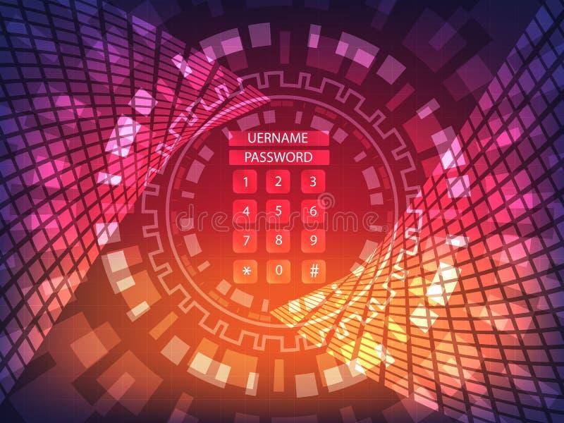 Ransomware alert, technology ,cyber secueity,cybercrime,wannacry royalty free illustration