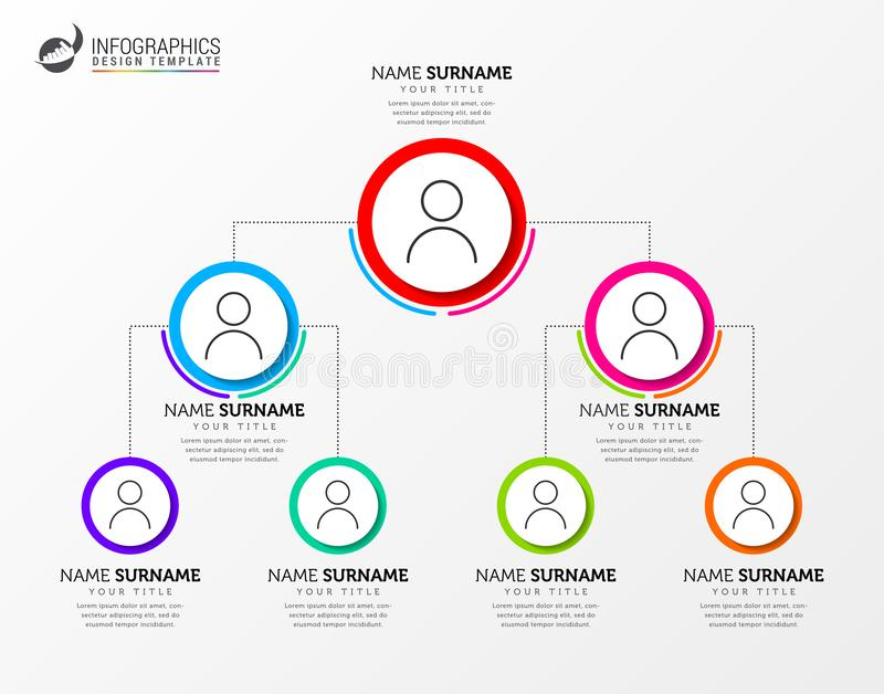 Infographic design template. Creative concept with pyramid system. Can be used for workflow layout, diagram, banner, webdesign. Vector illustration royalty free illustration