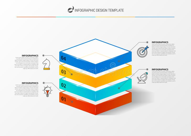 Infographic design template. Creative concept with 4 steps royalty free illustration
