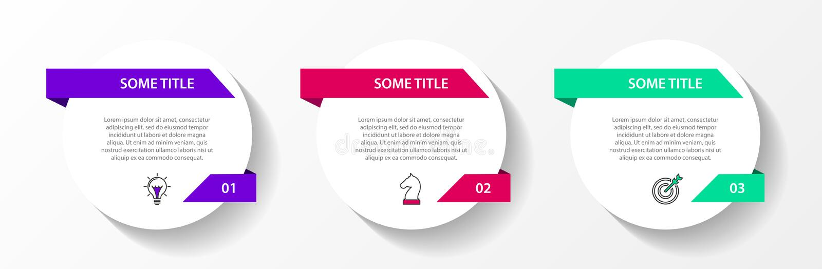 Infographic design template. Creative concept with 3 steps. Can be used for workflow layout, diagram, banner, webdesign. Vector. Illustration stock illustration