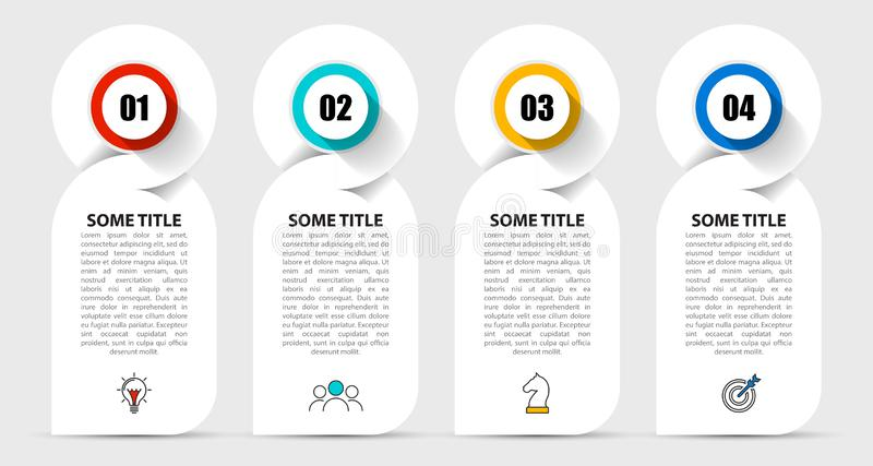 Infographic design template. Creative concept with 4 steps. Can be used for workflow layout, diagram, banner, webdesign. Vector illustration vector illustration