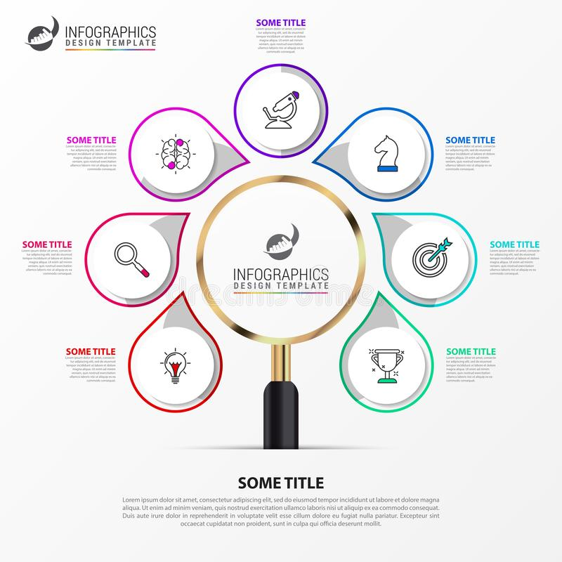 Infographic design template. Creative concept with 7 steps. Can be used for workflow layout, diagram, banner, webdesign. Vector illustration vector illustration