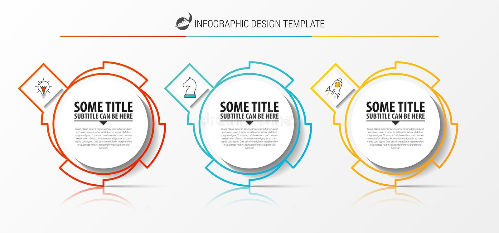 Infographic design template. Creative concept with 3 steps royalty free illustration
