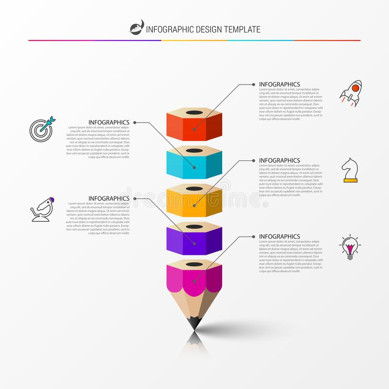 Free Infographic Design Template. Creative Concept With 5 Steps Stock Images - 125857434