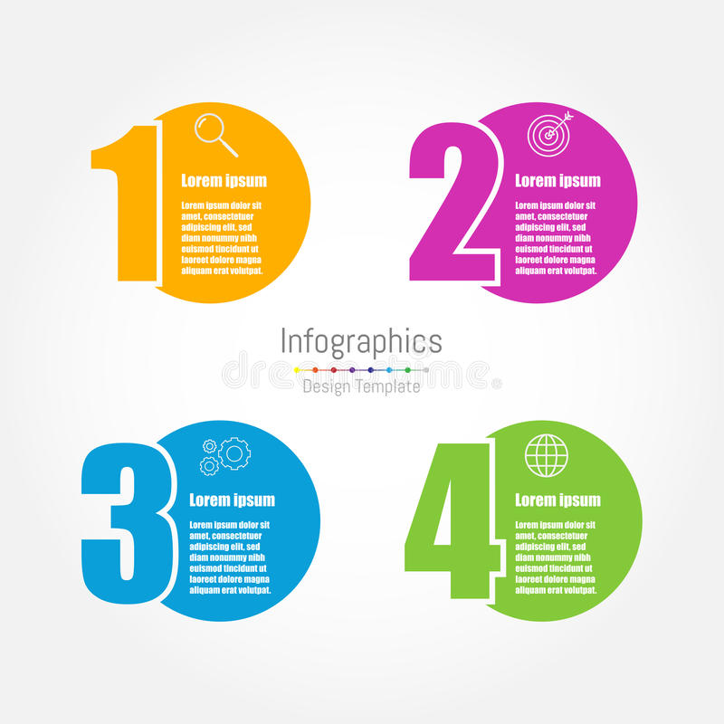Infographic design template. With four options stock illustration