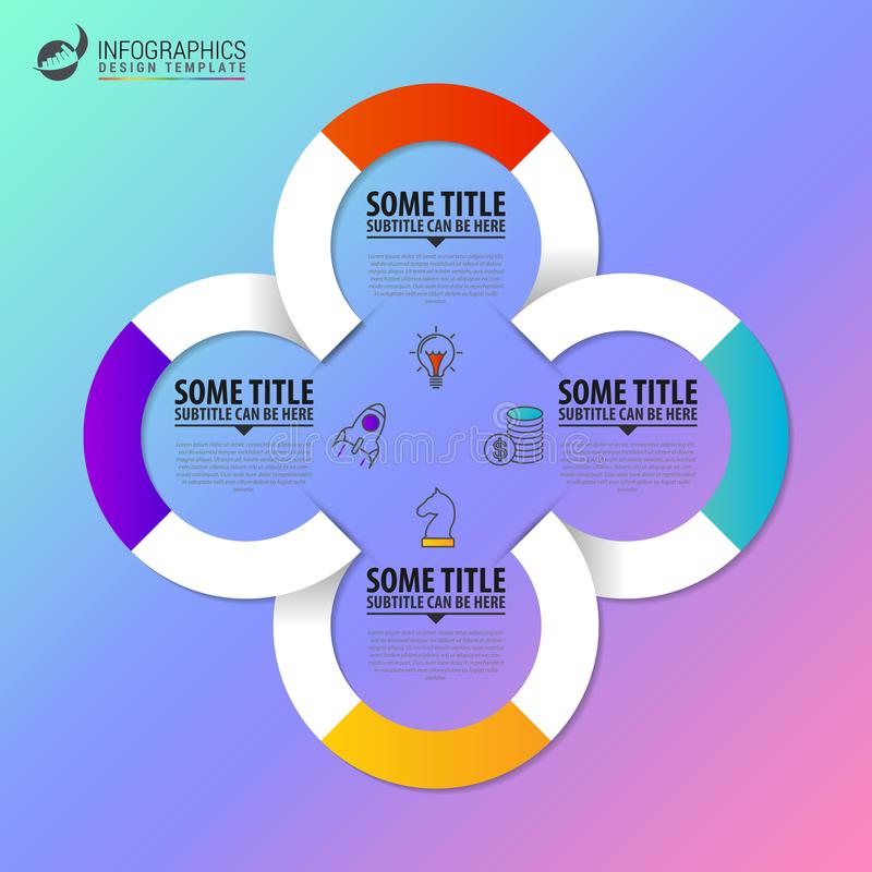 Infographic design template with four steps. Business concept royalty free illustration