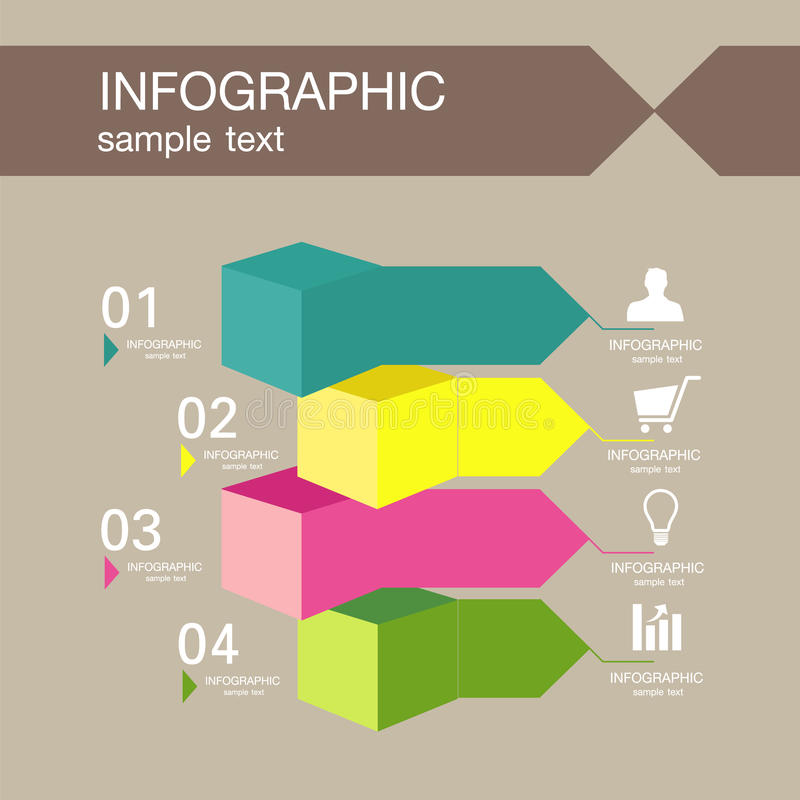 Infographic design template with graphic elements set illustration. Vector file in layers for easy editing. royalty free stock images