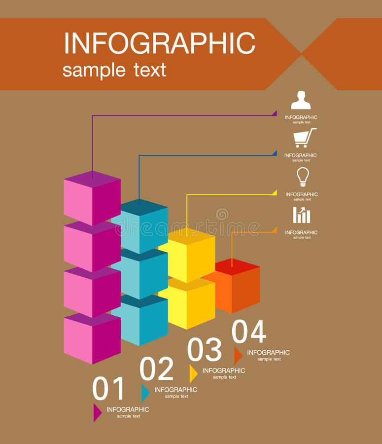 Infographic design template with graphic elements set illustration. Vector file in layers for easy editing. royalty free stock photo