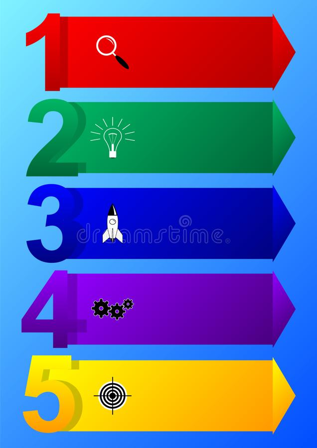 Infographic design template with icons and 5 options or steps. vector illustration